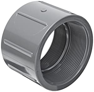 """Spears 830 Series PVC Pipe Fitting, Coupling, Schedule 80, 2"""" NPT Female"""