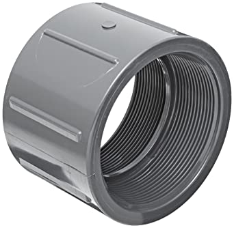 Spears 830 Series PVC Pipe Fitting Coupling Schedule 80 1u0026quot; NPT Female  sc 1 st  Amazon.com & Spears 830 Series PVC Pipe Fitting Coupling Schedule 80 1
