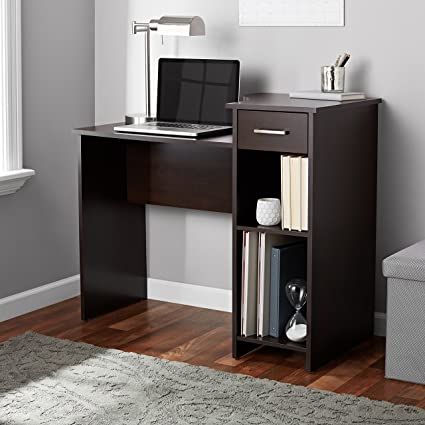 Amazon.com: Student Desk, Espresso Finish, Adjustable Shelf ...