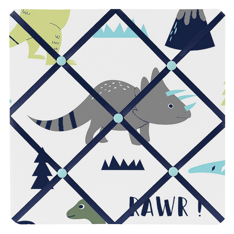 Blue and Green Modern Dinosaur Fabric Memory//Memo Photo Bulletin Board