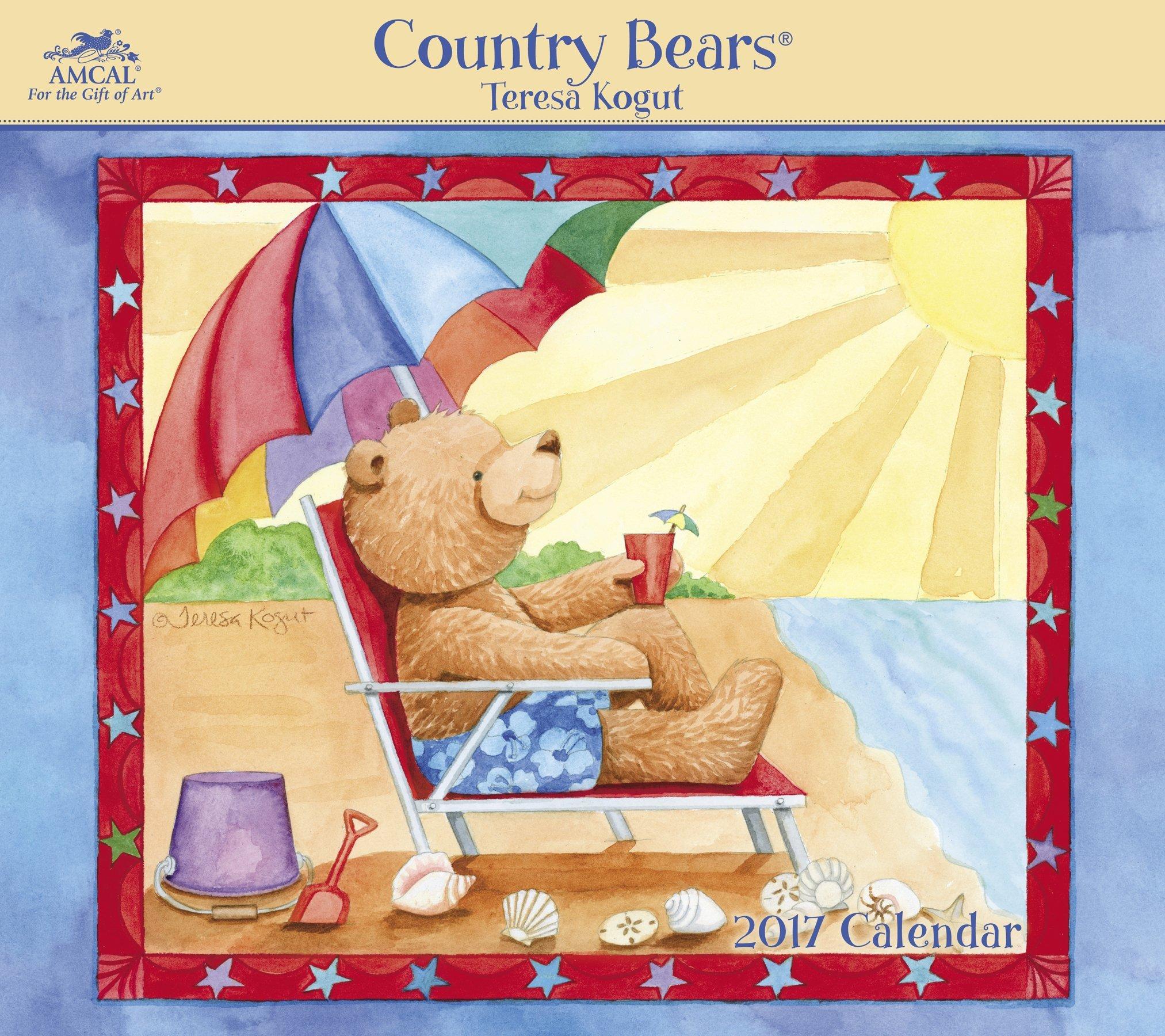 Country Bears - Teresa Kogut Wall Calendar (2017): AMCAL ...