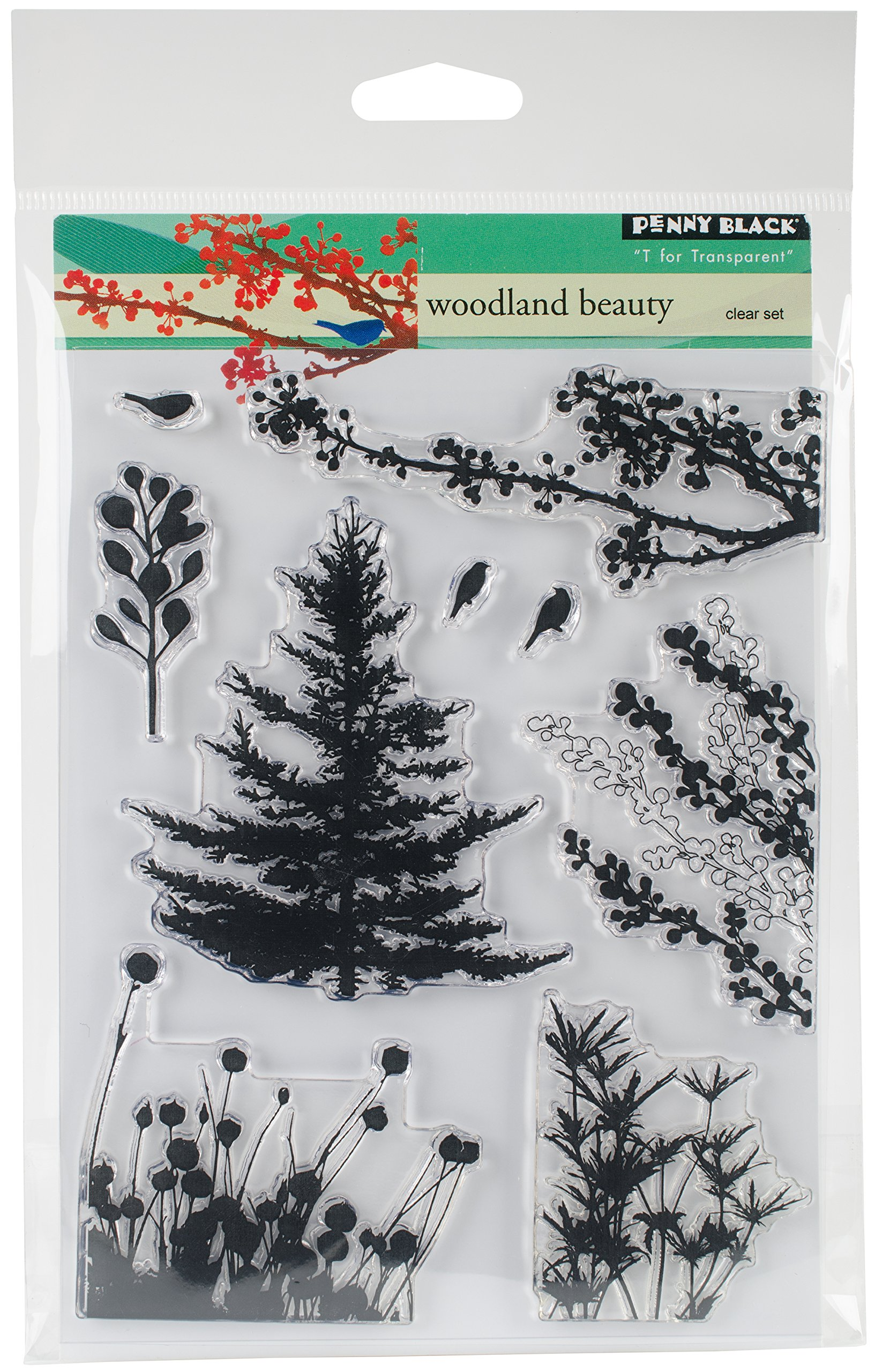 Penny Black 30-379 Clear Set Clear Stamp Set, 30-379,Woodland Beauty