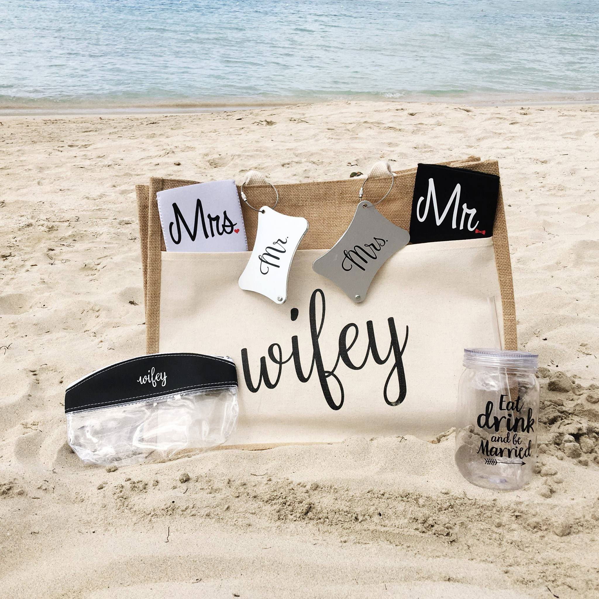 Honeymoon Gift- Unique Wedding Present or Bridal Shower Gift for Newlyweds by Wine Wraps LLC (Image #5)