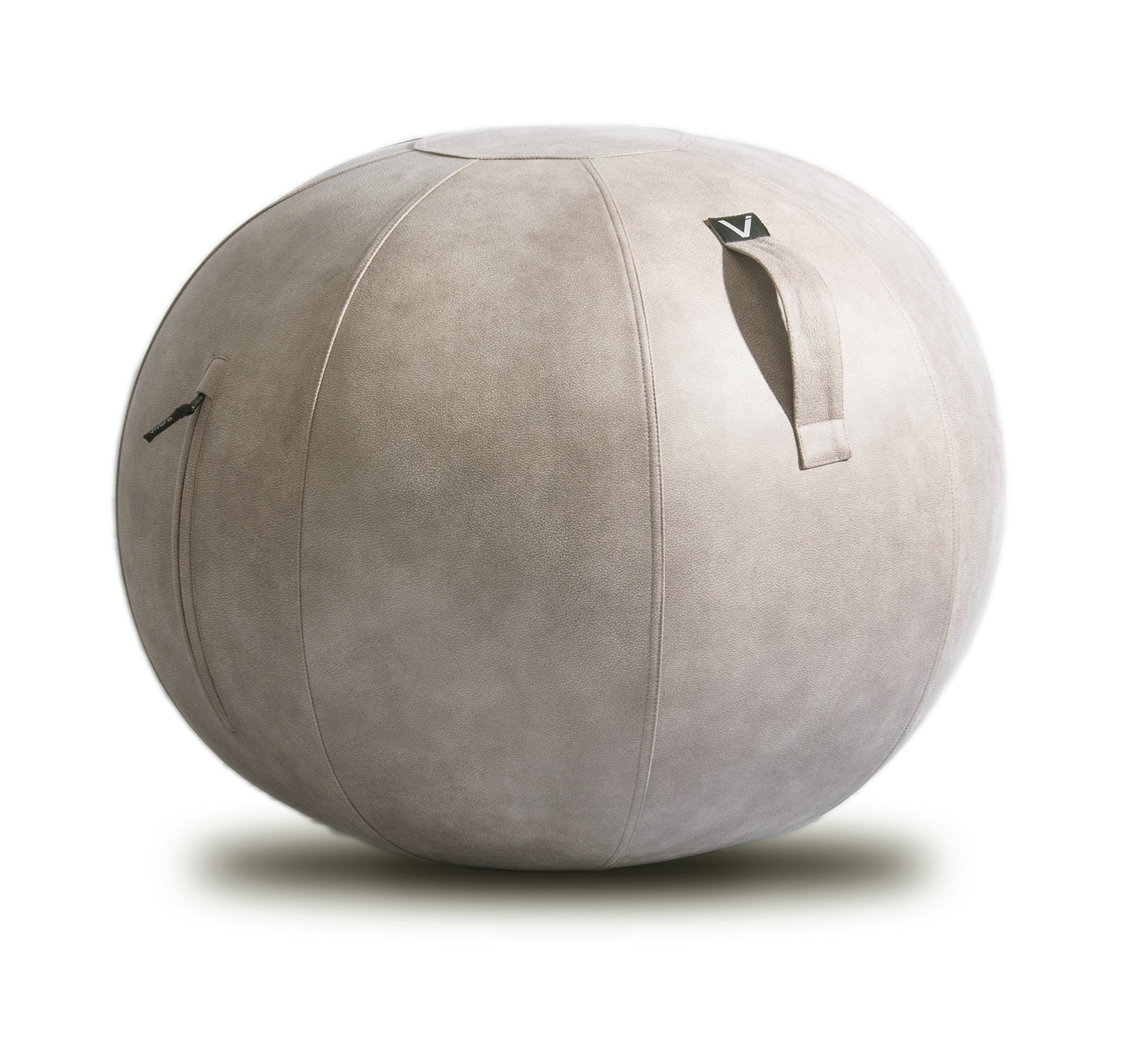Vivora Luno - Self-Standing Sitting Ball Chair for Home, Office, Yoga, Stability and Fitness, Exercise Ball with Pump and Handle, Base Ring Not Needed