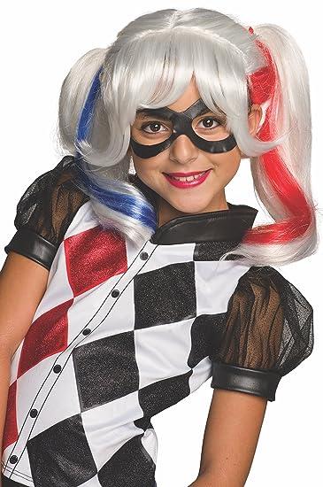 Amazon Com Rubie S Costume Girls Dc Super Hero Harley Quinn Wig