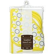 Jj Cole Two-Piece Hooded Towel Set Yellow Ducks