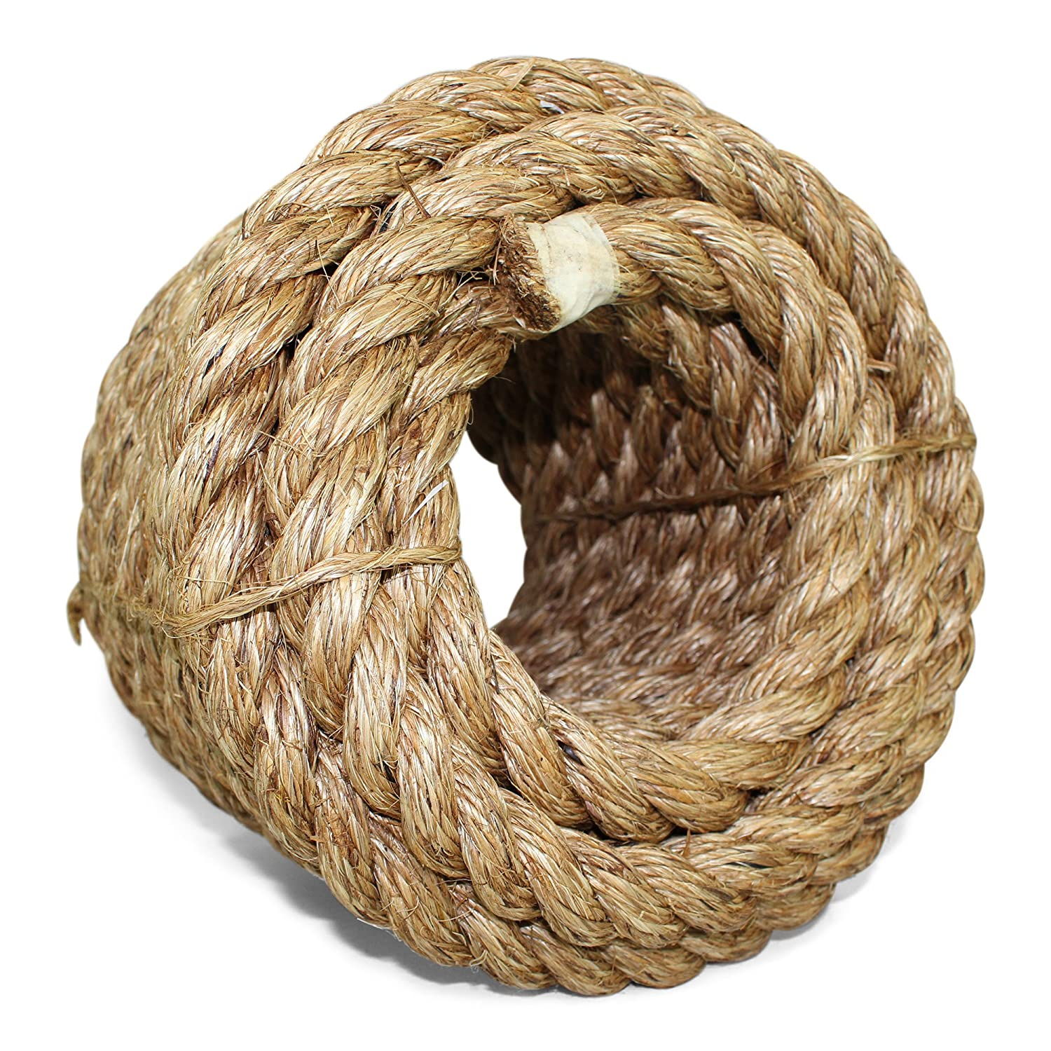 Twisted Manila Rope Hemp Rope (1 in x 50 ft) - SGT KNOTS - Tan Brown  Natural Rope - Thick Heavy Duty Rustic Outdoor Cordage for Craft, Dock,