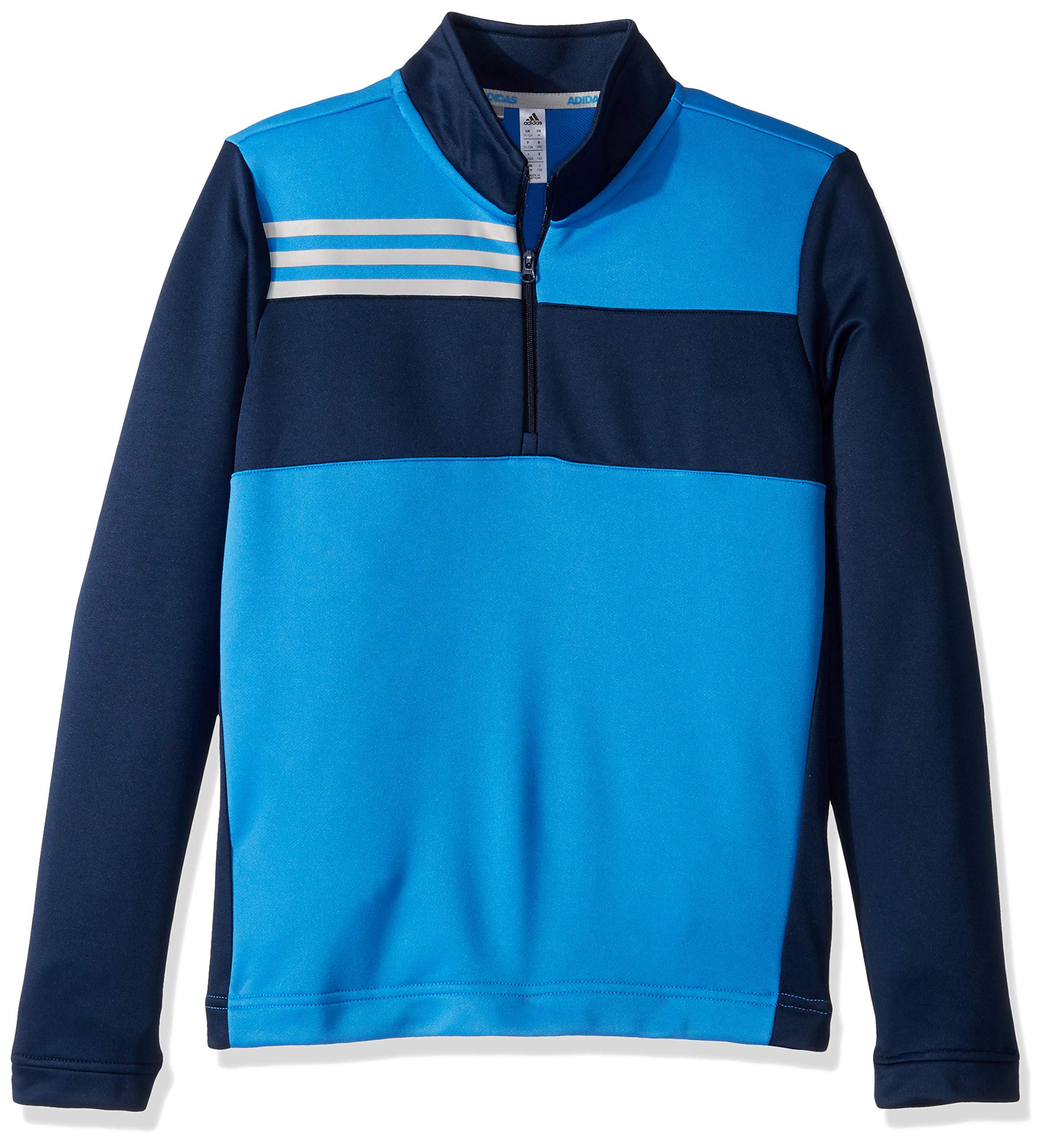 adidas Golf Color Blocked Half Zip Layer, Medium, True Blue by adidas