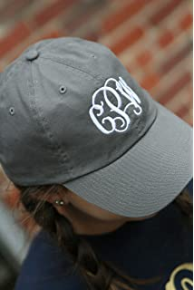 f5840bcd United Monograms Monogrammed Baseball Hat (Black) at Amazon Women's ...