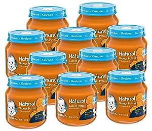 Gerber 1st Foods Natural Baby Food Jar, Sweet Potato with Vitamin C, 4 OZ