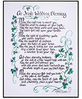 Amazon Com Irish Wedding Blessing Framed Inspirational Prayer