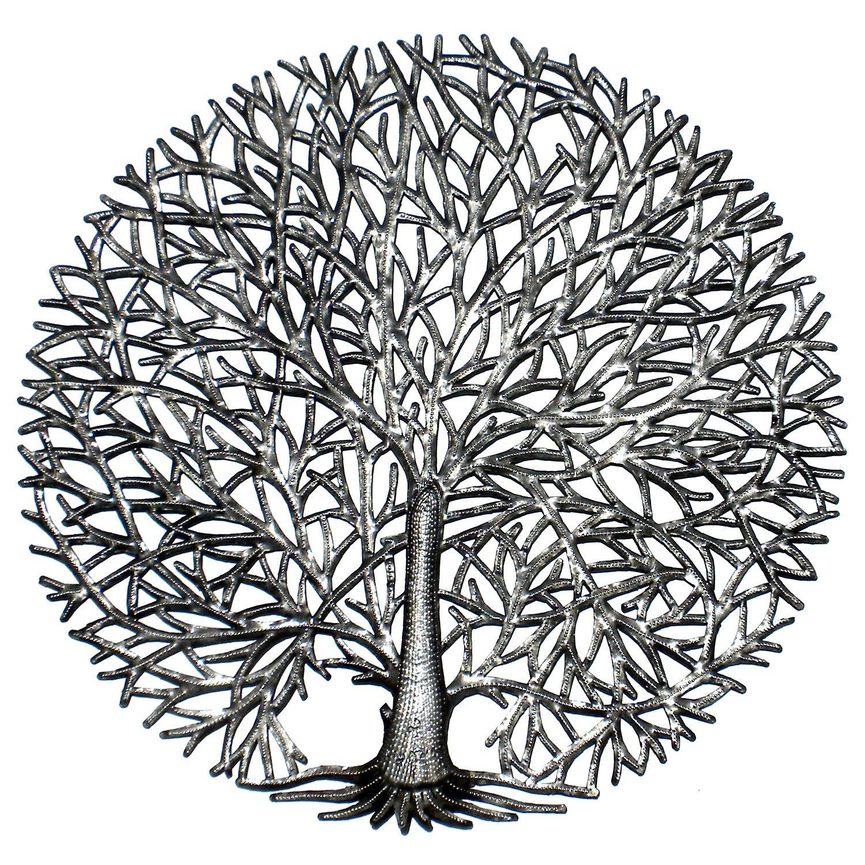 Global Crafts Handmade Fine Spirit Tree Of Life Metal Wall Art Haiti by Global Crafts