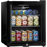 Subcold Super50 LED – Mini Fridge Black   49L Beer, Wine and Drinks Fridge   LED Light + Lock and Key   Low Energy A+