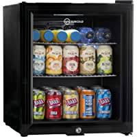 Subcold Super50 LED – Mini Fridge Black | 50L Beer, Wine & Drinks Fridge | LED Light + Lock & Key | Low Energy A+