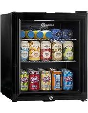 Subcold Super50 LED – Mini Fridge Black | 50L Beer, Wine & Drinks Fridge | LED Light + Lock & Key | Low Energy A+
