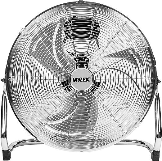 MYLEK Ventilador de piso de alta velocidad de 18