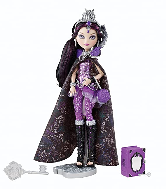 EVER AFTER HIGH DOLL SHOES BASIC RAVEN QUEEN PURPLE HEELS ONLY FEATHERS CHAINS