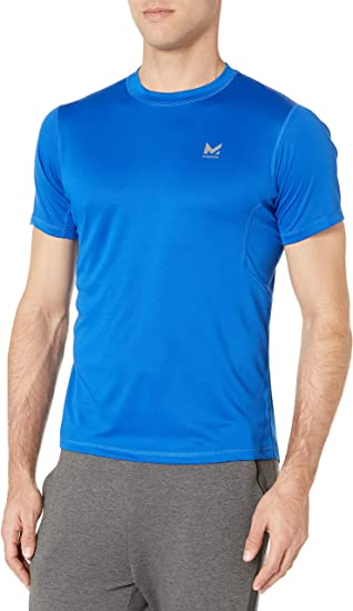 Athletic DNA Size S M Blue Short Sleeve Performance Shirt Lightweight Polyester