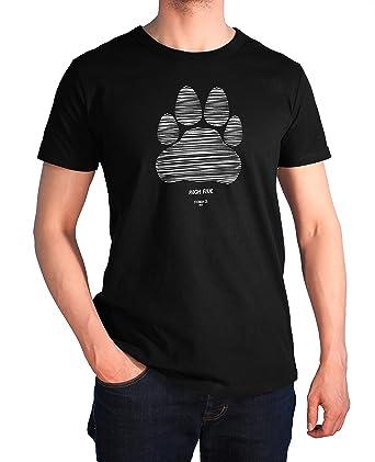 """buy popular 36076 27f80 Stedman Hund-Motiv Herren T-Shirt - Aufdruck High Five Pfote"""", Für Herrchen  und Hunde-Fans"""