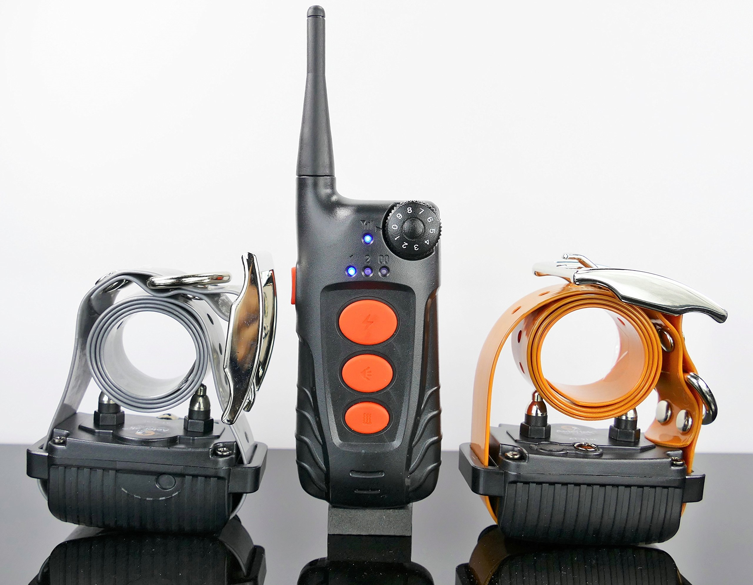 Aetertek 600 YARD REMOTE DOG TRAINER WITH WATERPROOF RECHARGEABLE DOG TRAINING SHOCK COLLAR TRAINER WITH AUTO ANTI-BARK (AT-918C-2 DOG SET) by Aetertek