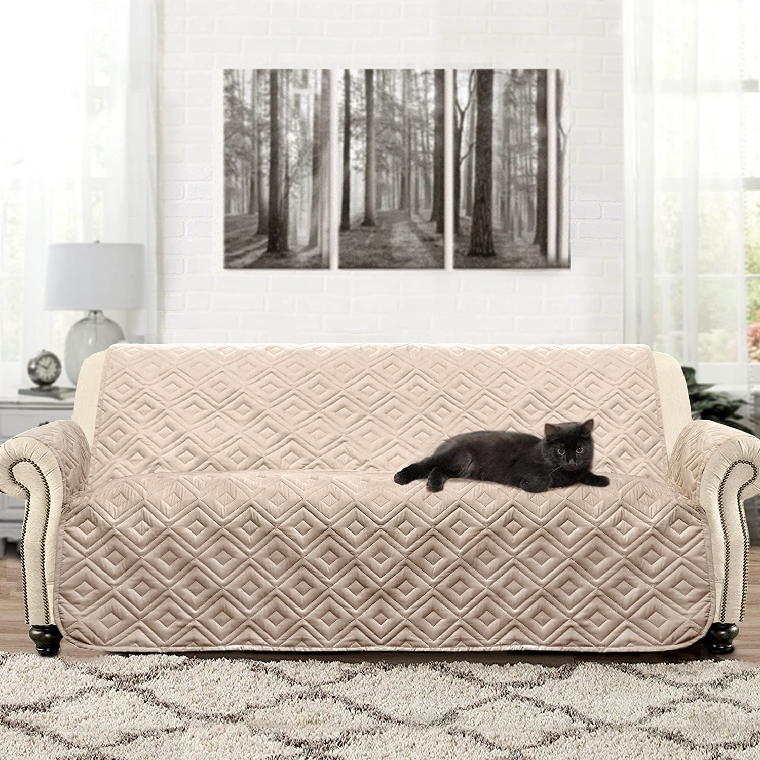 DriftAway Water Resistant Quilted Sofa Cover Furniture