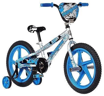 bcdf4a6747a0 Mongoose Stun Boy's Freestyle BMX Bike with Training Wheels, 18-Inch  Wheels, ...