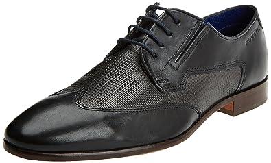 Herren 311419021011 Derbys, Schwarz (Black/Grey), 43 EU Bugatti