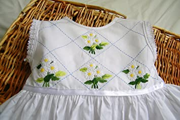 00b08392e57b Stunning cotton and lace hand embroidered baby girls toddlers dress ...