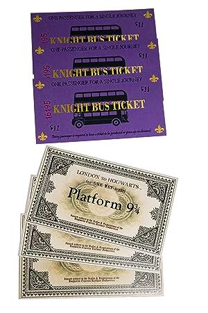 Rak Mark Replica Billete Anden 9 y 3/4 y Ticket Bus Noctambulo Harry Potter