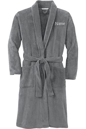019859ed97 Personalized Plush Microfleece Robe with Embroidered Name