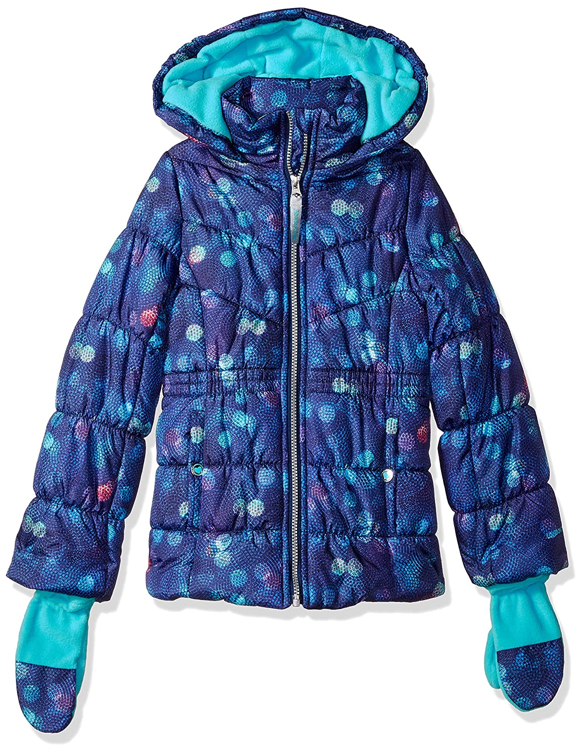 London Fog Girls' Big Warm Winter Jacket Coat with Accessory