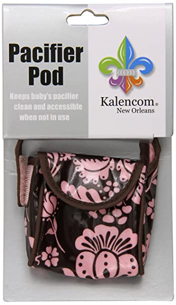 Kalencom Pacifier Pod, Toile Chocolate/Pink
