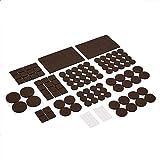 AmazonBasics Felt Furniture Pads, Brown and Transparent, 136 pcs