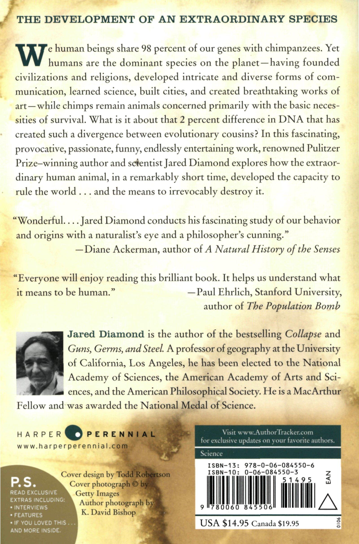 The Third Chimpanzee: The Evolution And Future Of The Human Animal (ps):  Amazon: Jared Diamond: 8601400691915: Books