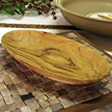 From The Earth - Olive Wood Oval Bowl - Fair Trade & Handmade