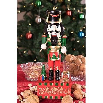 Clever Creations Green Drummer Nutcracker Music Box Festive Christmas Decor
