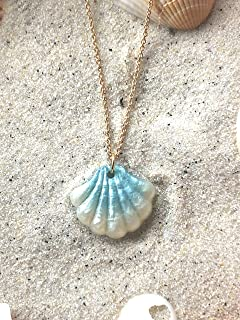 Loves Surf Gems Seashell Choker Ombre Clam Shell-Beach Jewelry Summer Accessories Surfer Jewelry Resin Jewelry