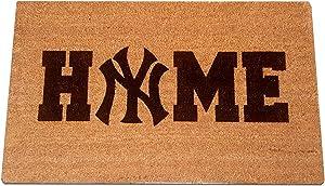 "New York Home Laser Engraved Coir Fiber Welcome Doormat 30"" x 18"""