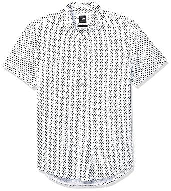 d17d4088a Amazon.com: Hugo Boss Men's Rash Short Sleeve Button Down Regular Fit Shirt:  Clothing