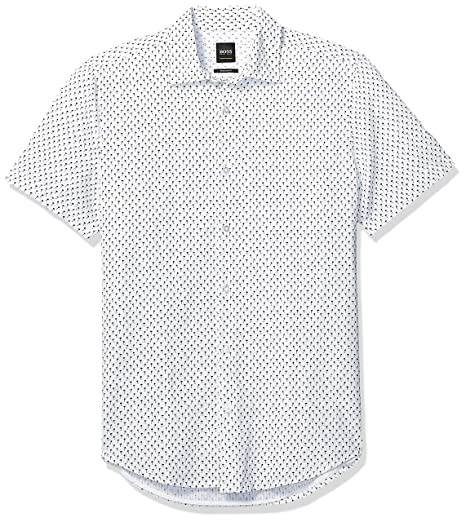 3e940b1ab92 Amazon.com: Hugo Boss Men's Rash Short Sleeve Button Down Regular ...
