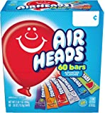 AirHeads Bars, Chewy Fruit Candy, Variety Pack, Non Melting, 60 Count (Packaging May Vary)