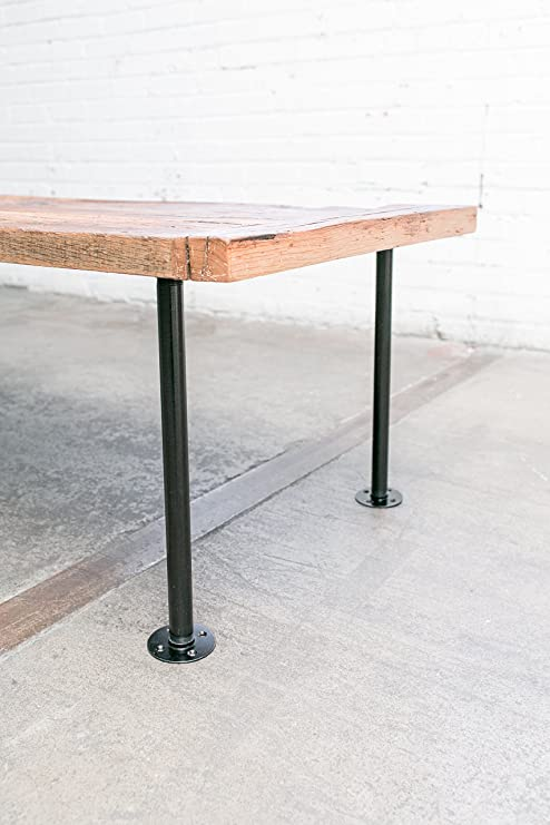 Magnificent 16 Industrial Pipe Table Legs I Style Black Zinc Plated Machost Co Dining Chair Design Ideas Machostcouk