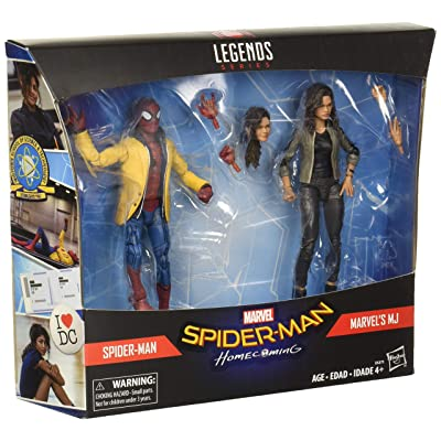 Marvel Legend 2-Pack Spider-Man Homecoming Spiderman and MJ: Toys & Games