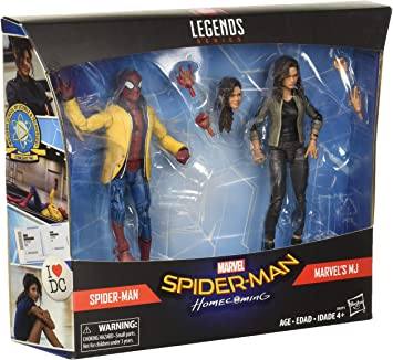 Marvel Spider-Man: Homecoming Legends Spider-Man & MJ Action ...