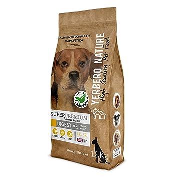 YERBERO Nature Digestive Comida hipoalergenica (Pollo y arroz) para Perros 12kg: Amazon.es: Productos para mascotas