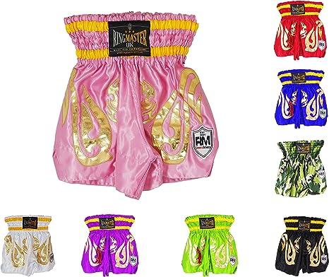 Black Medium Blitz Muay Thai Kick Boxing Shorts  Adults Pink