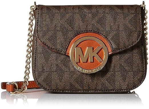 a1cf71b6f7b8 Michael Kors Fulton Womens Small Crossbody Handbag Brown: Handbags ...