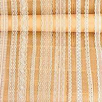 Whale Weiß Spitze Verzierung Band mit 10 Verschiedene Muster Creme Vintage, 1200 Zoll Insgesamt