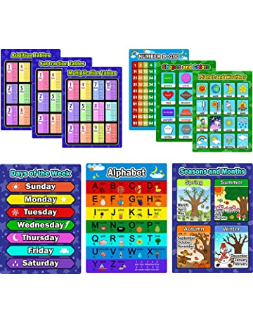 Educational Charts Posters Amazoncom Office School Supplies