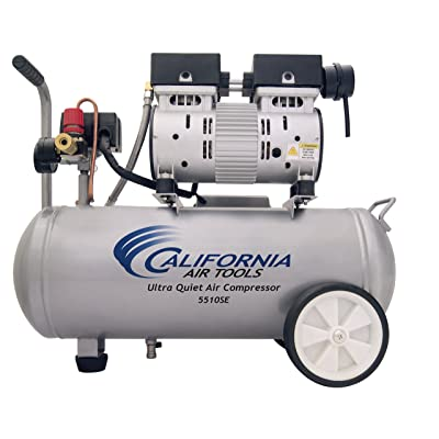 California Air Tools 5510SE Ultra Quiet and Oil-Free 1.0-HP 5.5-Gallon Steel Tank Air Compressor